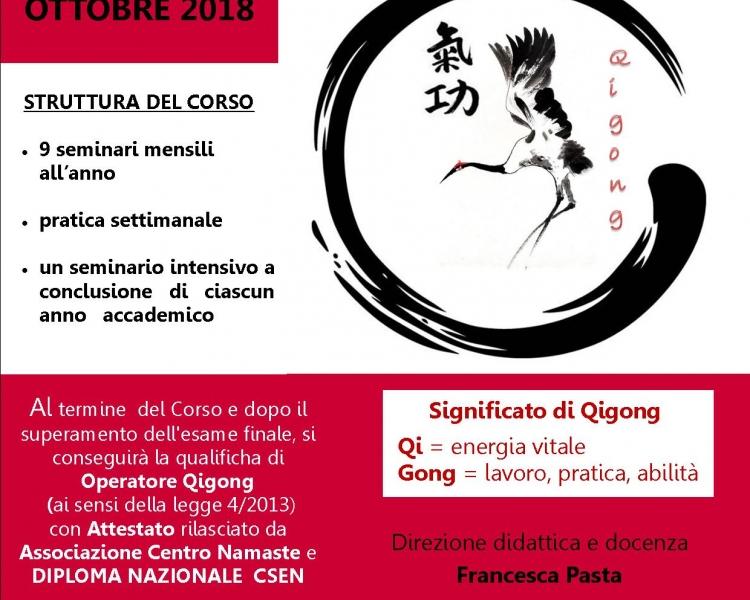 Corso di Formazione triennale per Operatore Qigong - A.A. 2018/2019